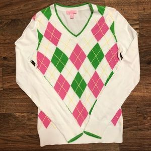 Lilly Pulitzer Argyle Sweater